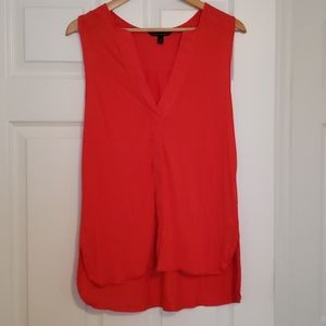 Banana Republic orange/red sleeveless blouse